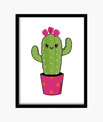 Cuadro Cactus kawaii