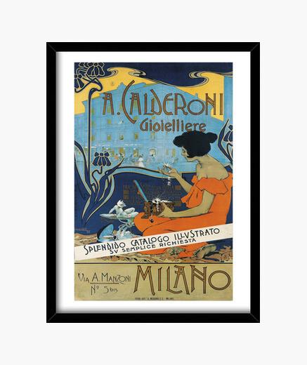 Calderoni gioielliere, adolf hohenstein framed print