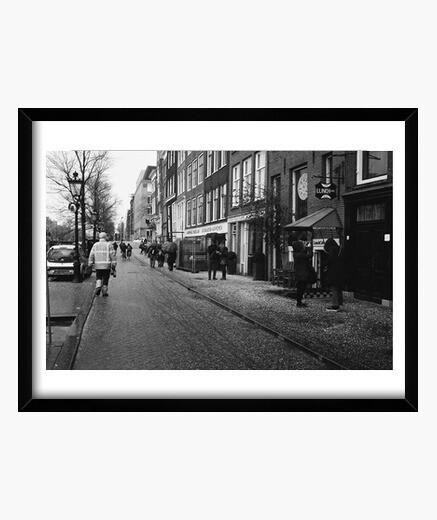 Cuadro Calle Nevada de Amsterdam