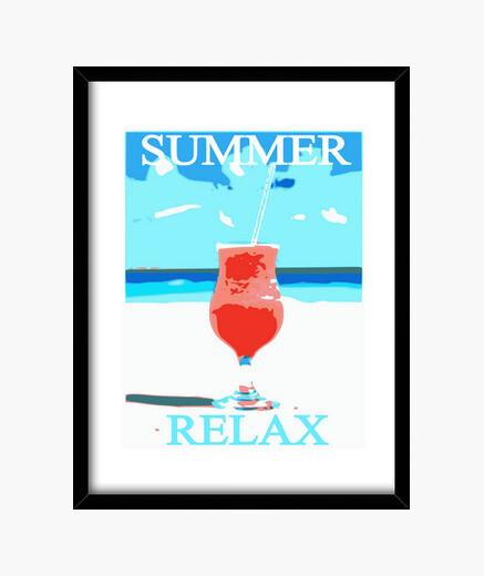 Cuadro camiseta verano relax