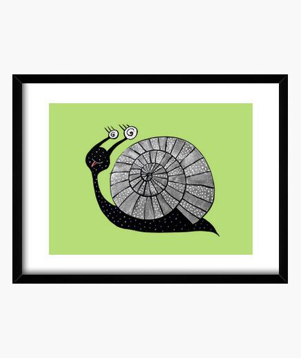 Cuadro caracol lindo de la historieta con los ojos espirales