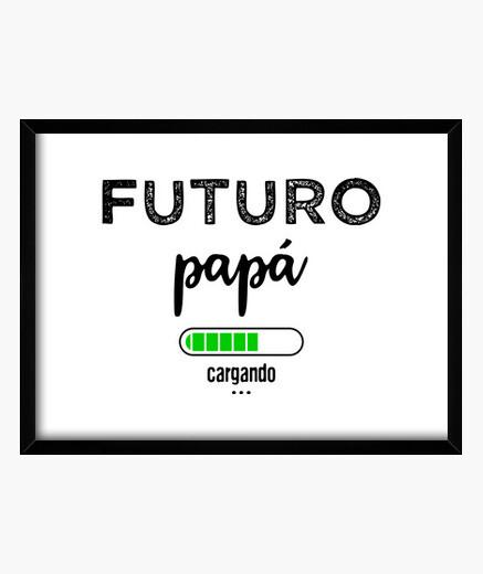 Quadro caricamento futuro papà