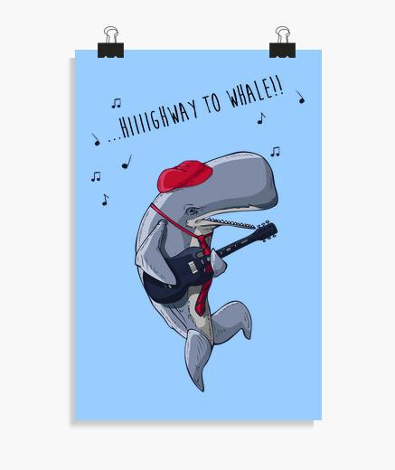 Póster carretera a la ballena