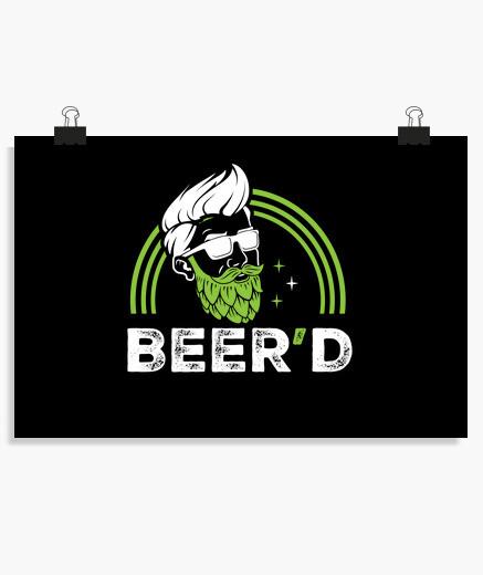 Póster cerveza beerd celebración fiesta...
