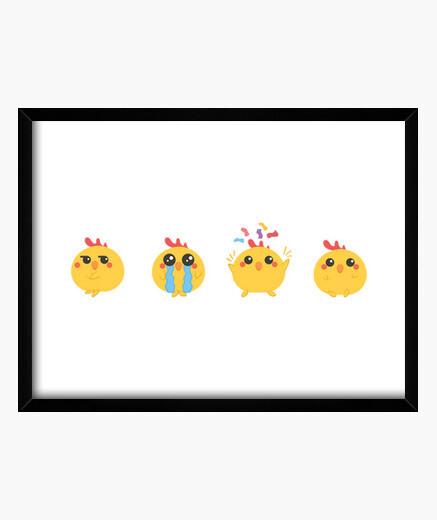 Cuadro Chibi farm - chicken