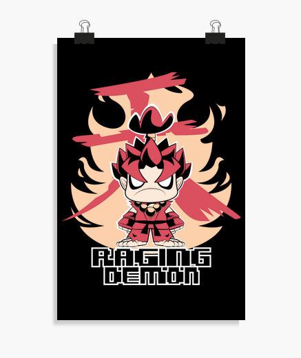 Póster Chibi Raging Demon