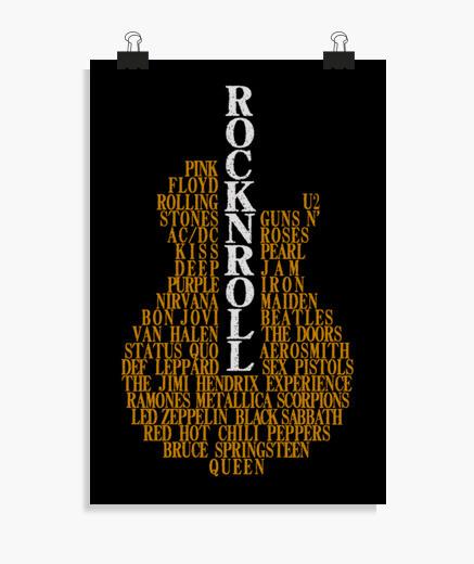 Poster chitarra rock n giochi di ruolo l