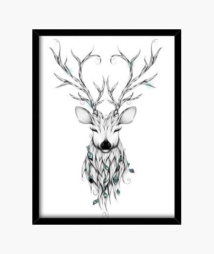 Cuadro ciervos poéticas