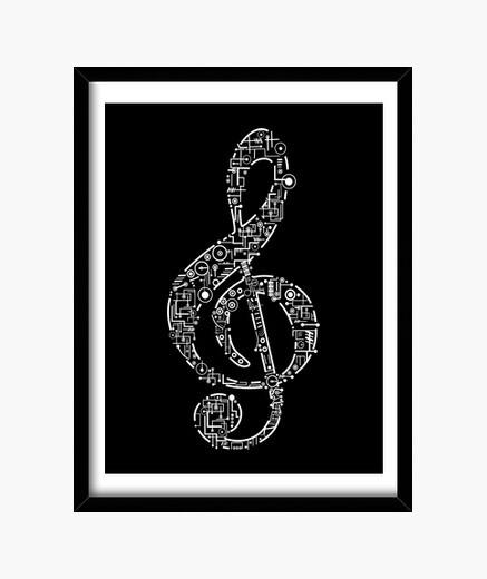 Cuadro Clave de Sol - Música - Músicos