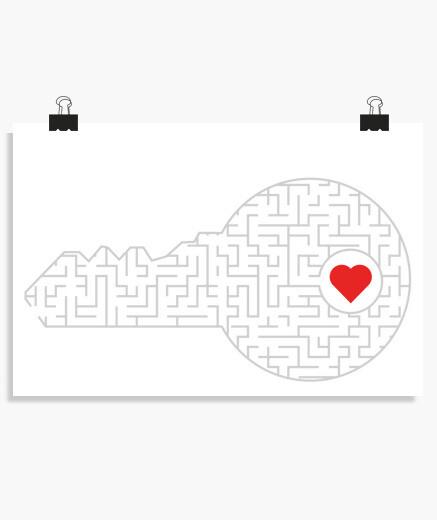 Póster clave para tu corazón (plata)