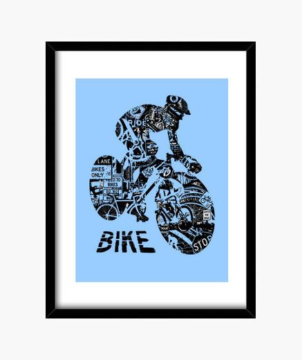 Cadre collage vélo