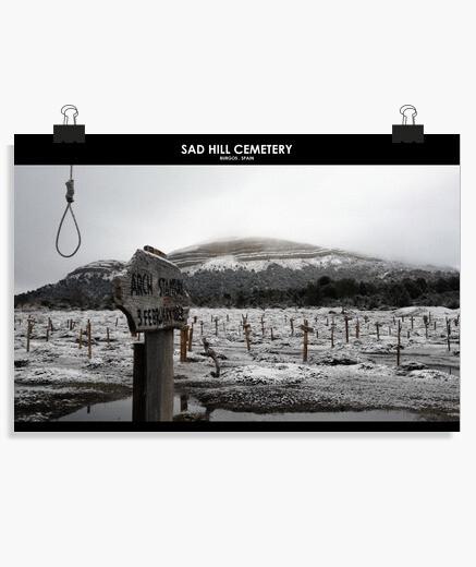 Poster colline triste hiver 5