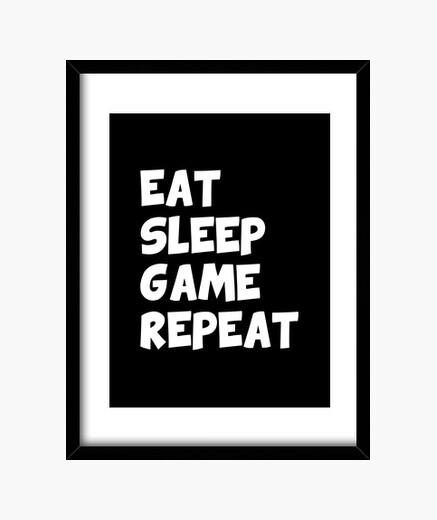 Cuadro comer dormir repetir juego