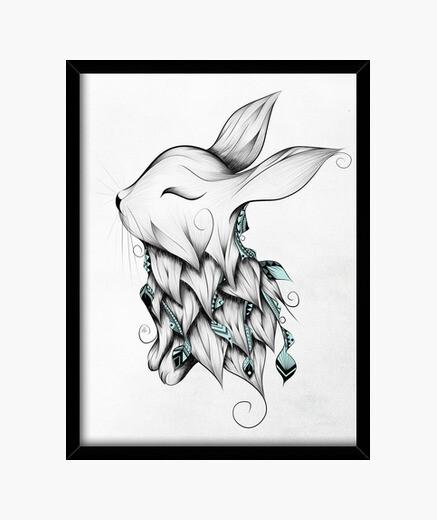 Cuadro conejo poética