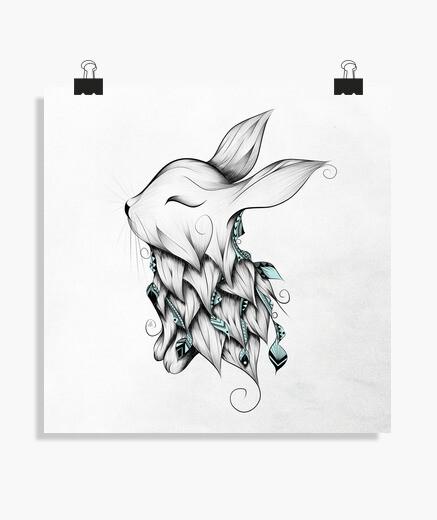 Póster conejo poético