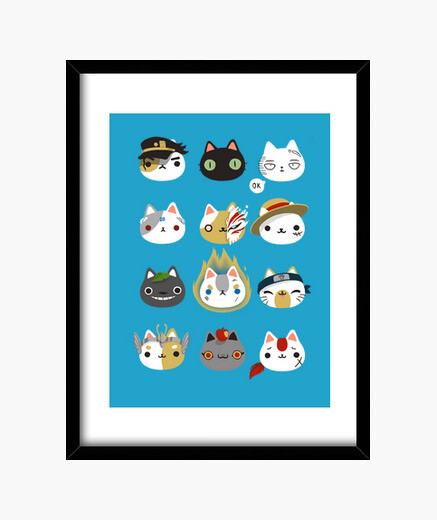 Cuadro Cosplay cats print