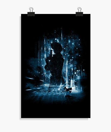 Poster cowboy de l39espace - bleu