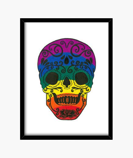 Cuadro cráneo del azúcar del arco iris