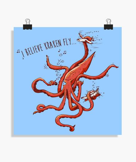 Poster credo che kraken vola