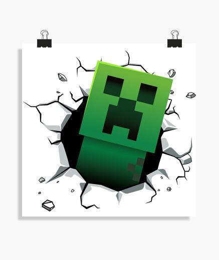 Póster Creeper Minecraft