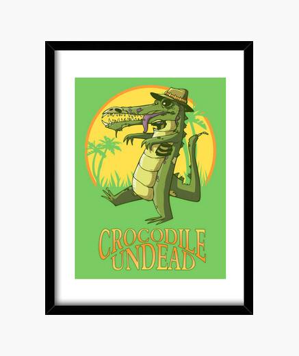 Crocodile undead framed print