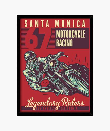 Cuadro 1967 Vintage Bikers Santa Mónica...