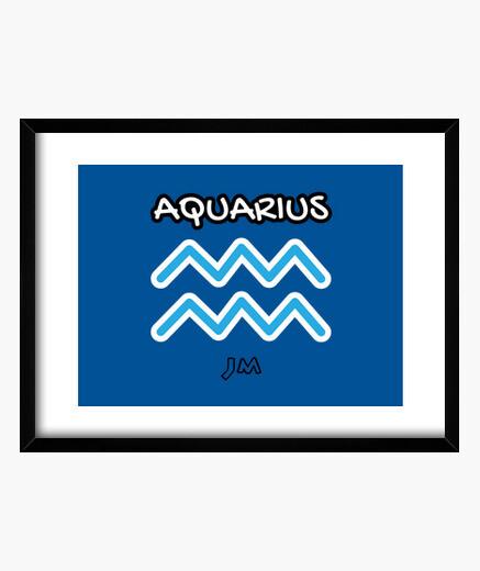 Cuadro AQUARIUS PICTURE - AQUARIUS SIGN -...