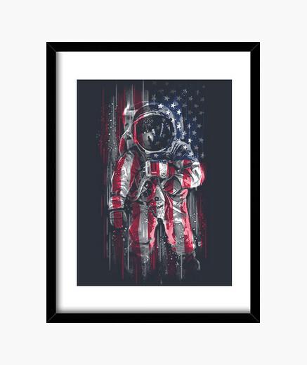 Cuadro Astronaut Flag