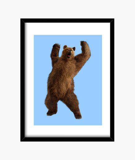 Cuadro Bear grrr