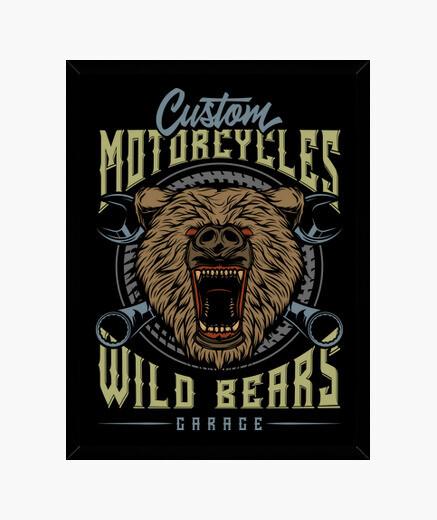 Cuadro Biker Garage Motorcycles Custom...