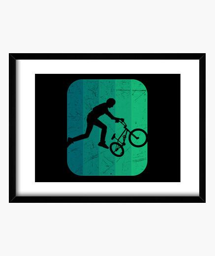 Cuadro bmx bar spin bmx rider bicicleta bmx
