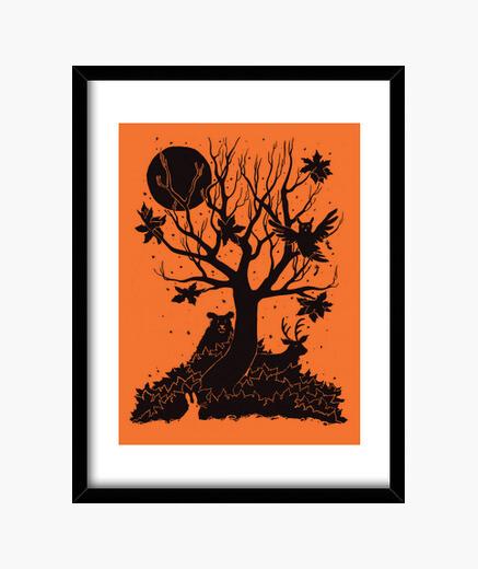 Cuadro bosque de otoño