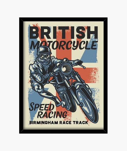 Cuadro British Motorcycle Biker Motos...