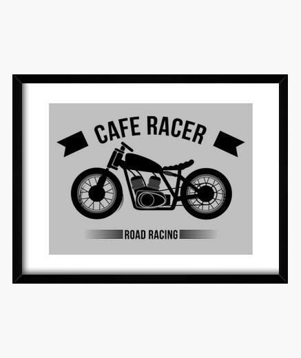 Cuadro Cafe Racer Logo