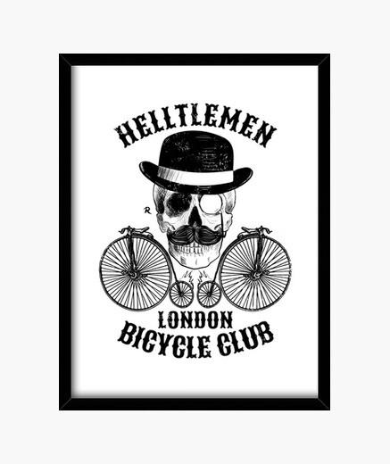 Cuadro Calavera y bicicleta vintage