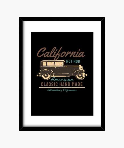 Cuadro california hot rod coche antiguo