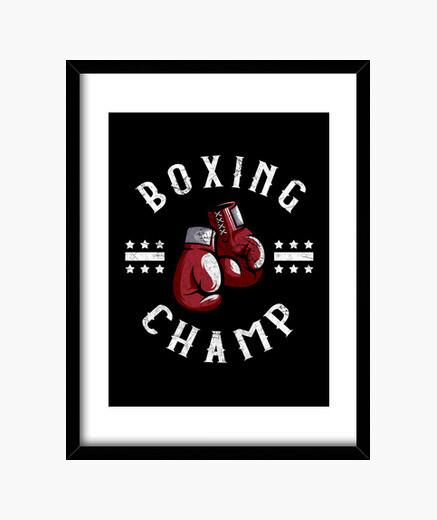 Cuadro campeón de boxeo box deportes...