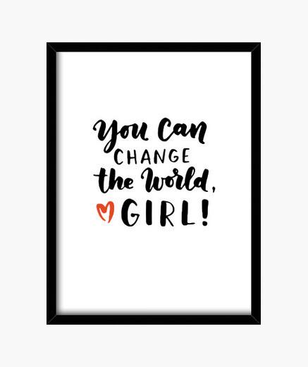 Cuadro chica puedes cambiar el feminismo...