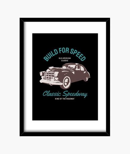 Cuadro coche deportivo de época coche...