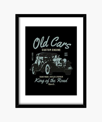 Cuadro coches antiguos coche clásico...