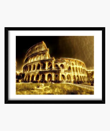Cuadro Coliseo con marco horizontal 4:3 (40 x 30 cm)