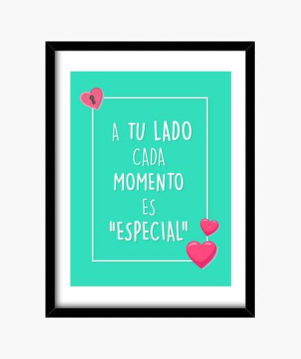Cuadro Con Frase De Amor Marco Vertical 34 30 X 40 Cm