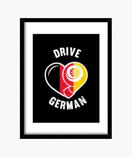Cuadro conducir alemán turbo impulsar...
