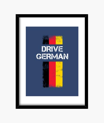 Cuadro conducir regalo alemán para los...