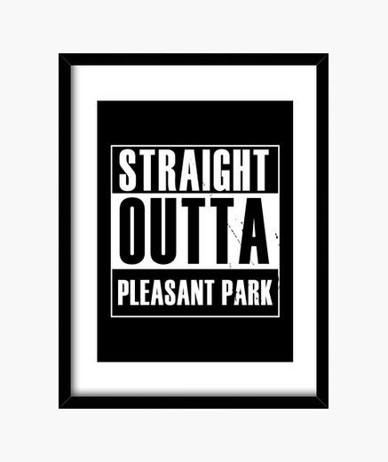 Cuadro directamente de un parque agradable