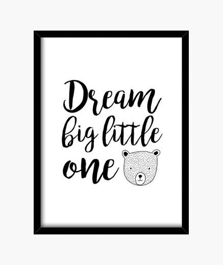 Cuadro dream big little one