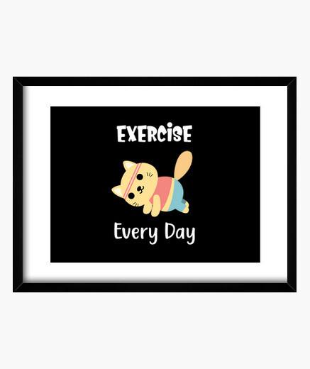 Cuadro ejercicio todos los días lindo...
