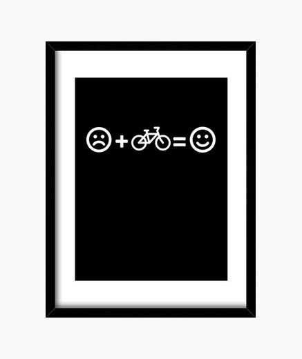 Cuadro el ciclismo es felicidad bicicleta...