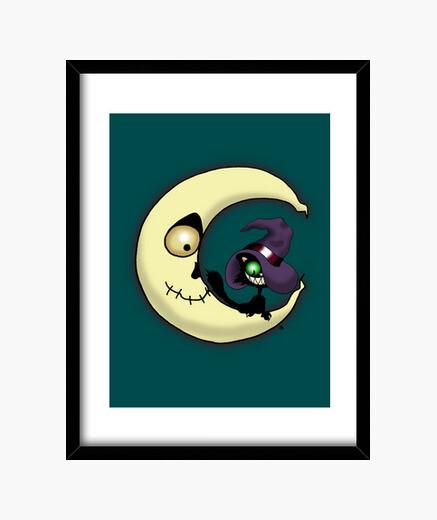 Cuadro El gato sobre la luna