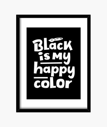 Cuadro el negro es mi color feliz diciendo...